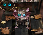 Sowl mini: Oncilla imp with glowing eyes