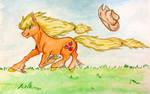 Applejack taking off