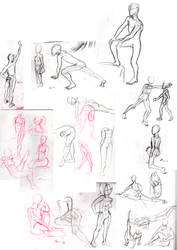 Life drawing 1-5 minutes by sad-machine
