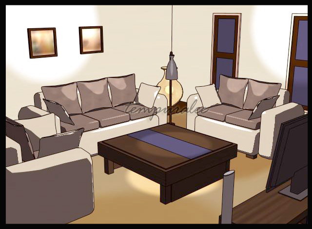 Living room cartoon version by architempura on deviantart for Cartoon picture of a living room