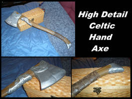 Celtic Detail Hand Axe by BanesArmory