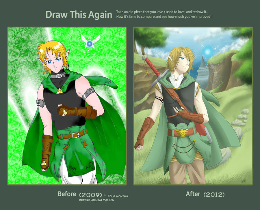 Draw this Again - Link by Heart-tsukikage