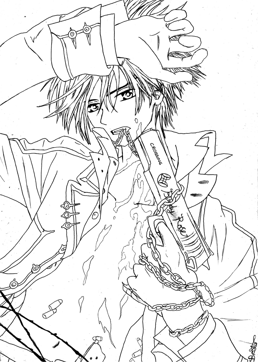 vampire knight zero coloring pages - photo#27