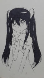 Wendy Marvell - Ink Drawing by CJSmileyz