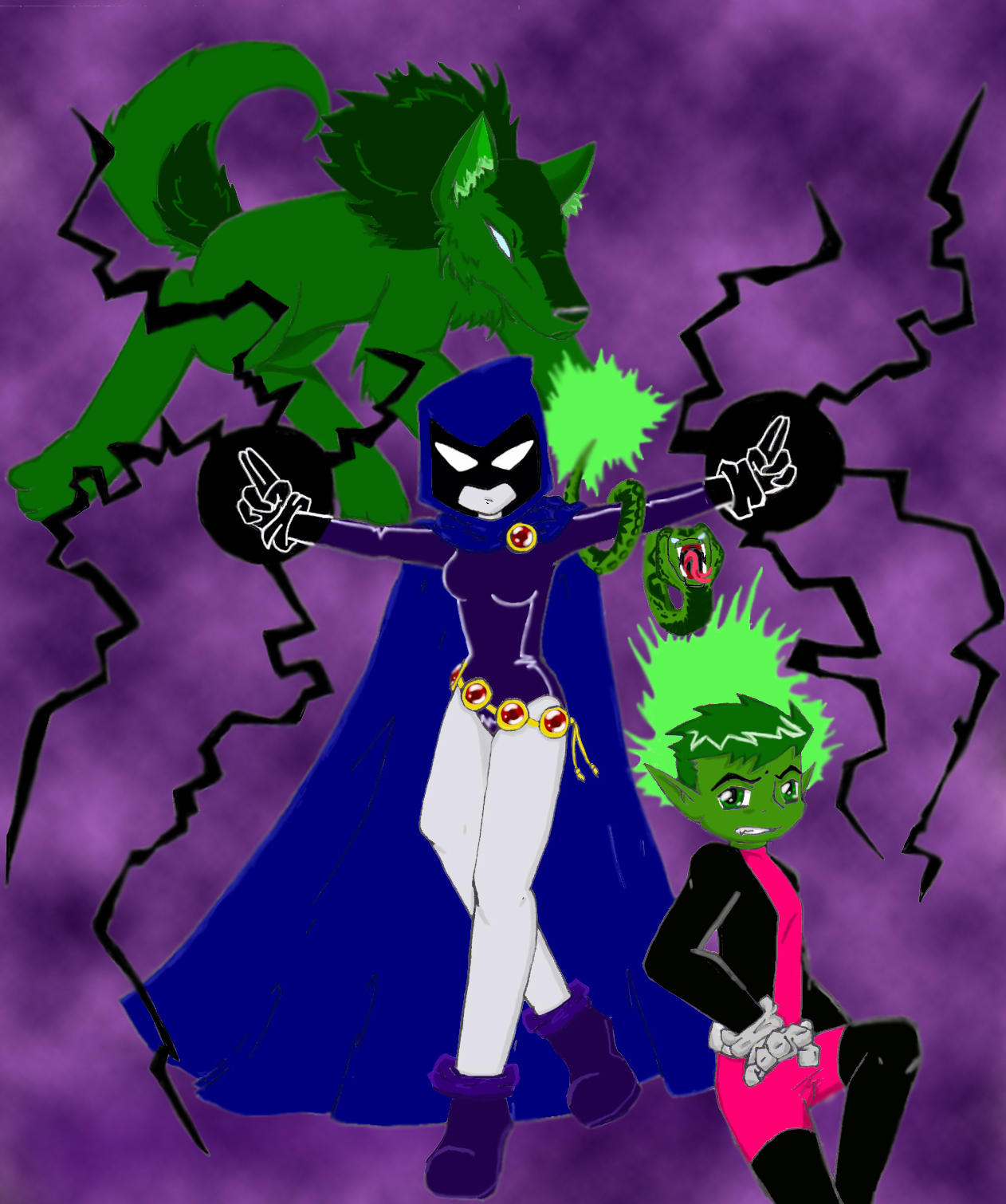 Beast Boy And Raven Have A Baby | 1262 x 1510 jpeg 734kB