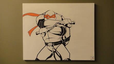 Michelangelo is a party dude.. by Nixonstellar