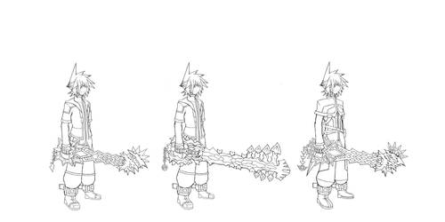 Keyblade Size and Character Height - Zenith