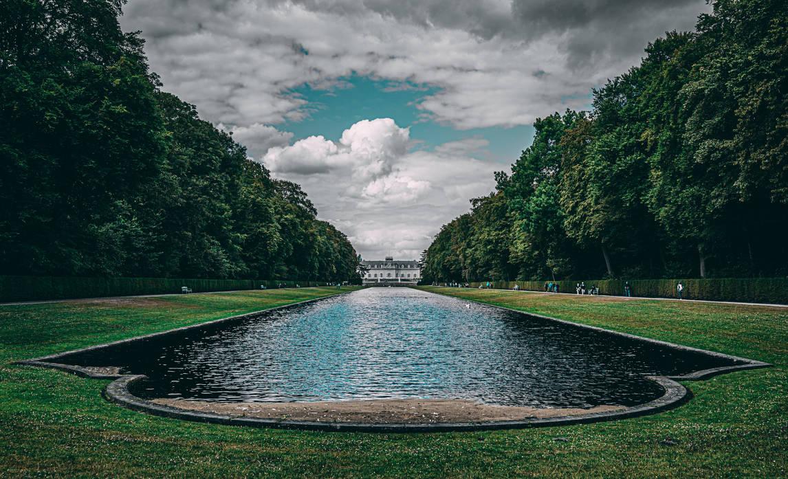 Dusseldorf - Benrath Palace garden. by MMalkavian