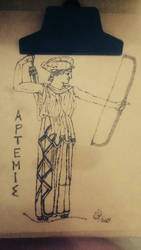 Artemis with bow