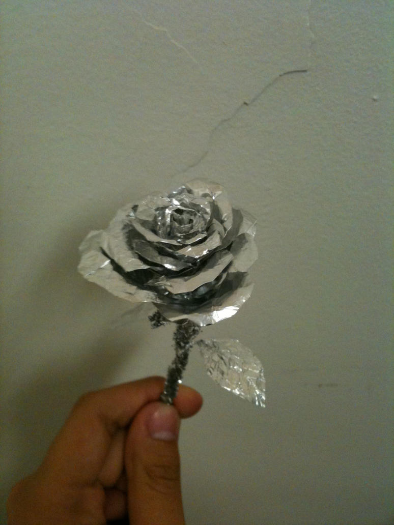 Aluminum Foil Rose by MadeTheCut