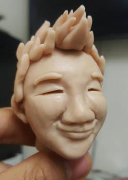 Self 'portrait' clay sculpture