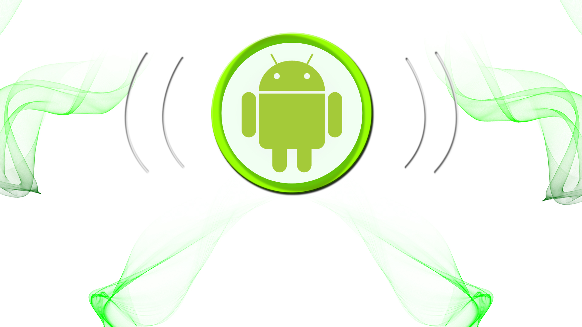 wallpaper icon android white and green by wow4ik2013