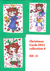 Xmas cards four 4 by Kittychan2005