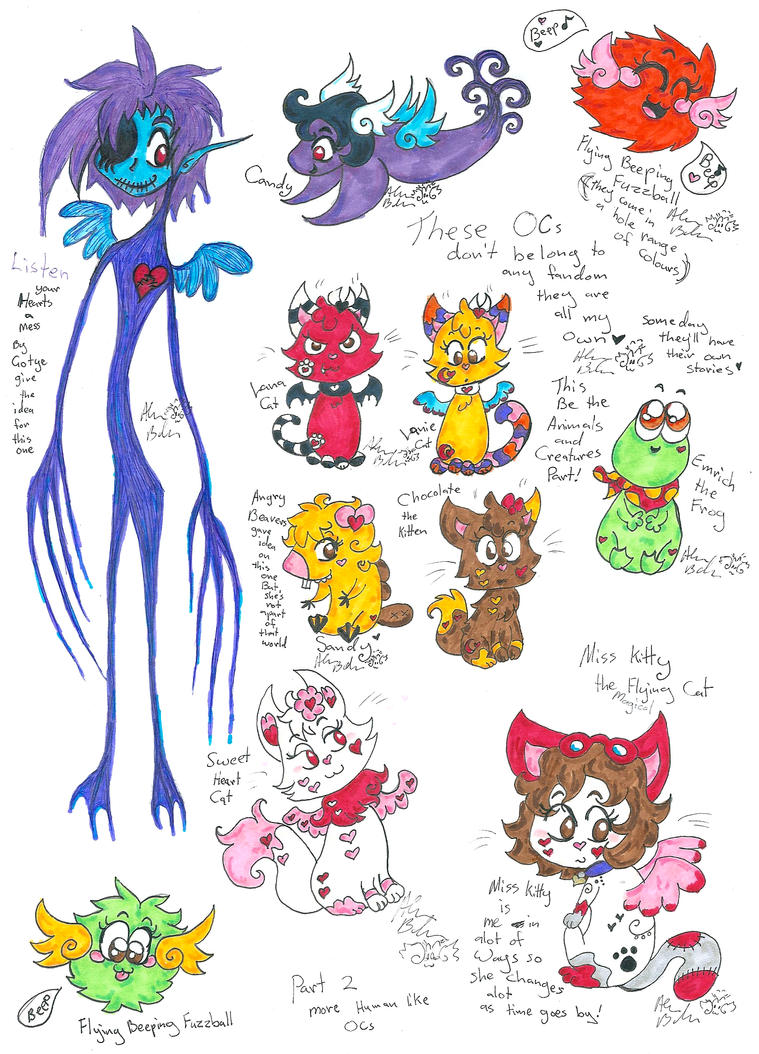 OCs that don't belong to any fandoms 1 by Kittychan2005