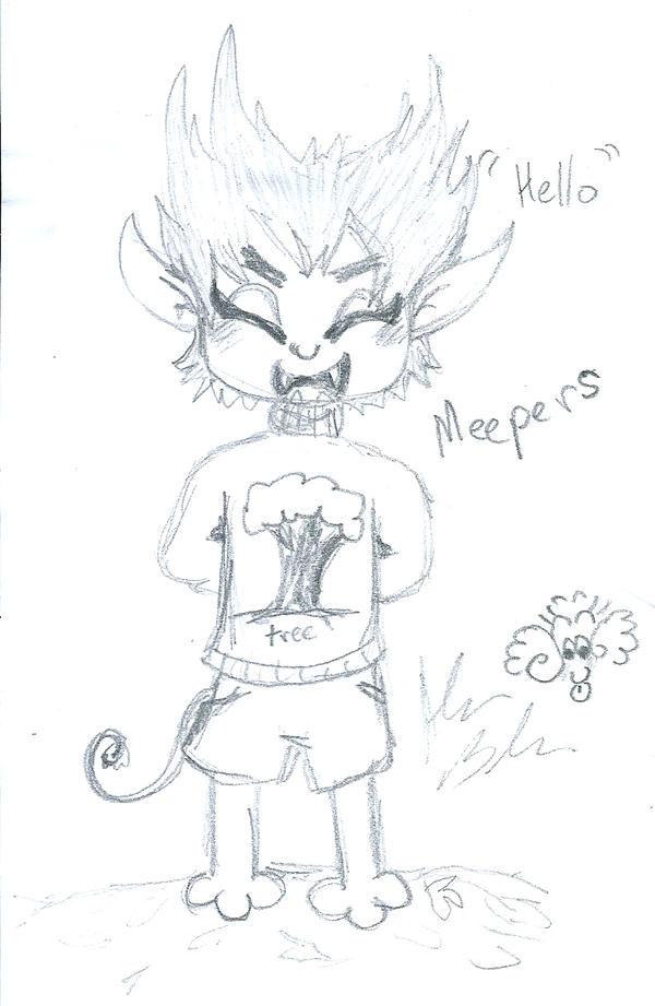Meepers sketch while at work 2 by Kittychan2005