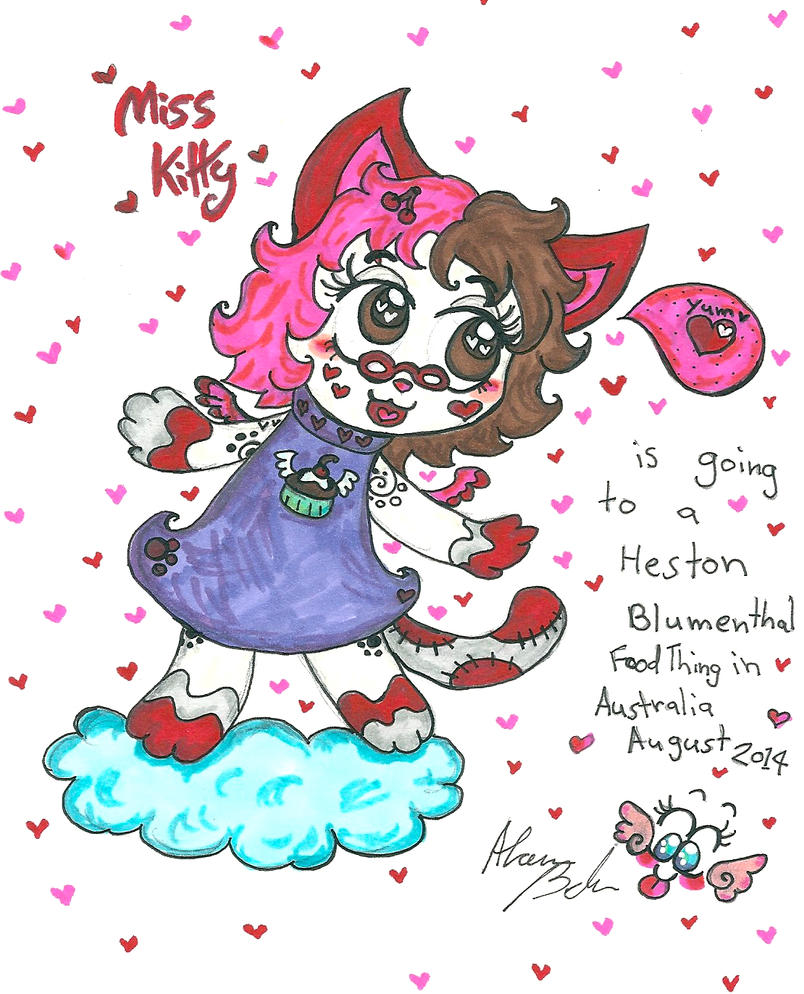 Miss Kitty and Heston Blumenthal by Kittychan2005