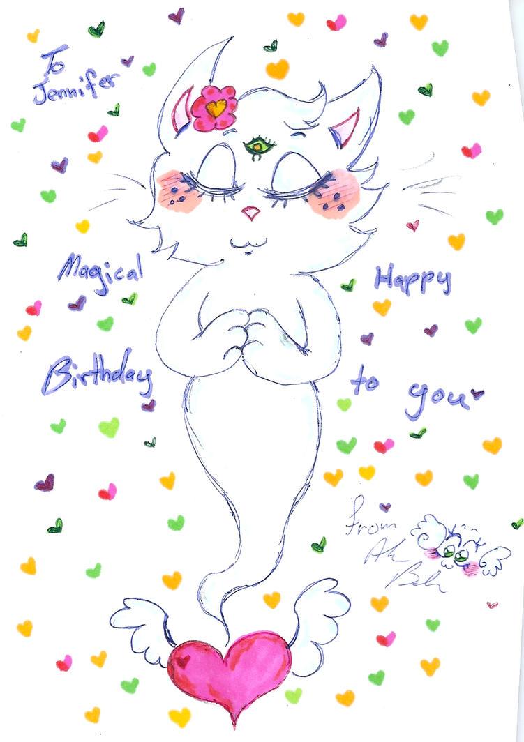 birthday drawing for Jennifer  by Kittychan2005