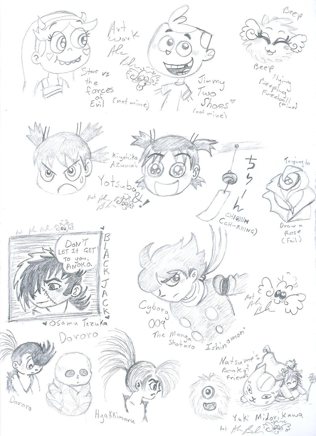Fandom Manga Cartoon Scribbles by Kittychan2005