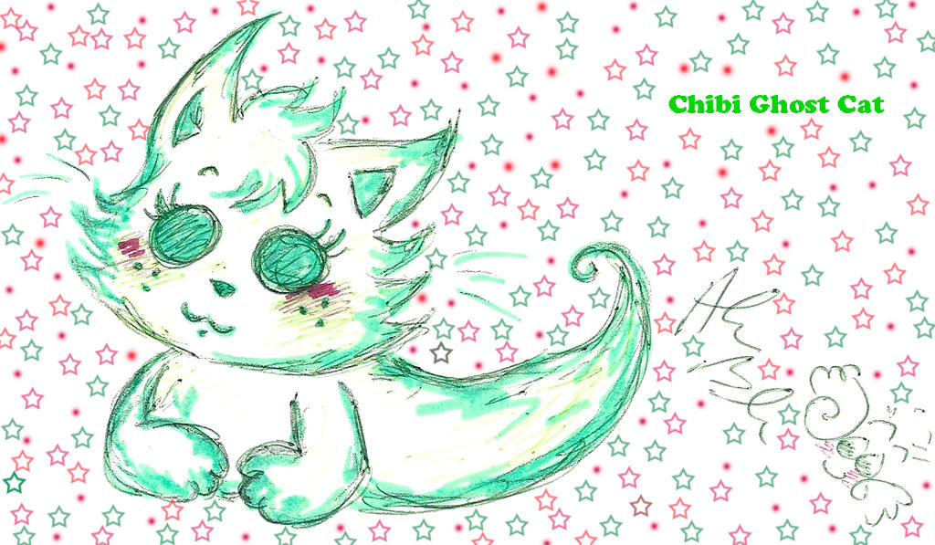 Chibi Ghost Cat by Kittychan2005