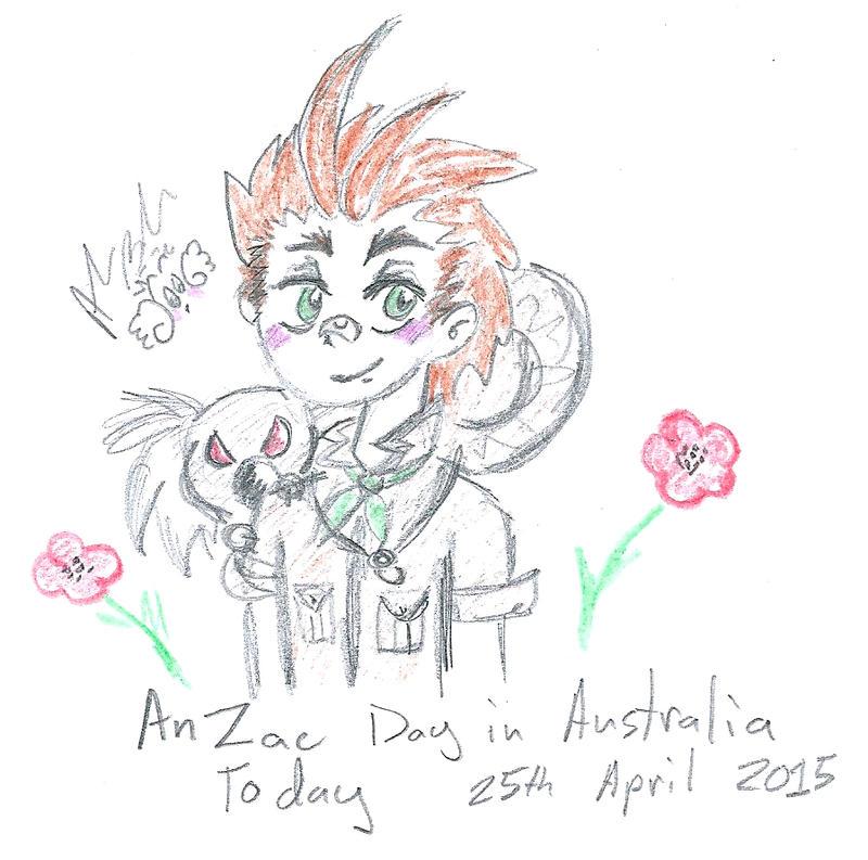 Hetalia Australia for AnZac day by Kittychan2005
