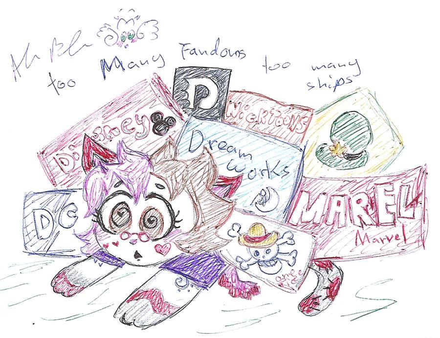 too many Fandoms Too Many Ships by Kittychan2005