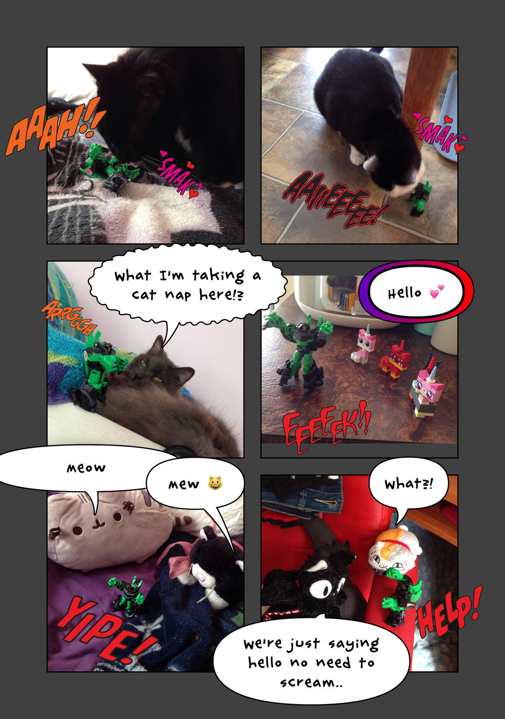 RID Grimlock and cats part one by Kittychan2005