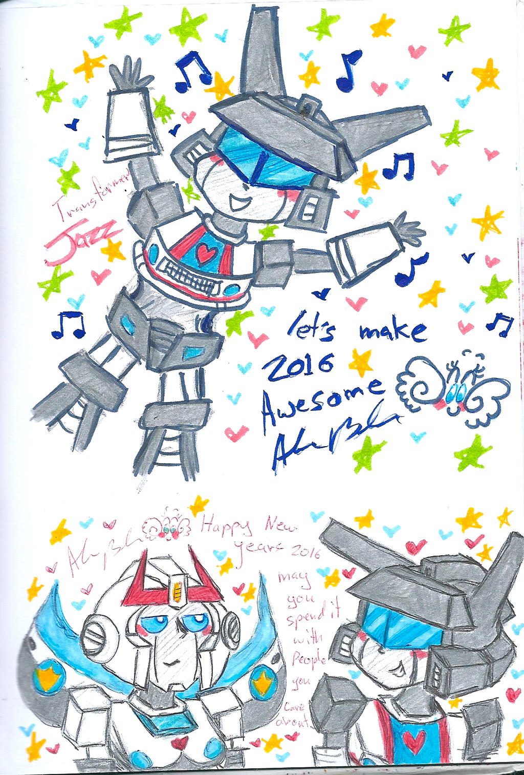 Happy new years 2016 Prowl Jazz by Kittychan2005