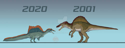 Spinosaurus 2001 vs Spinosaurus 2020
