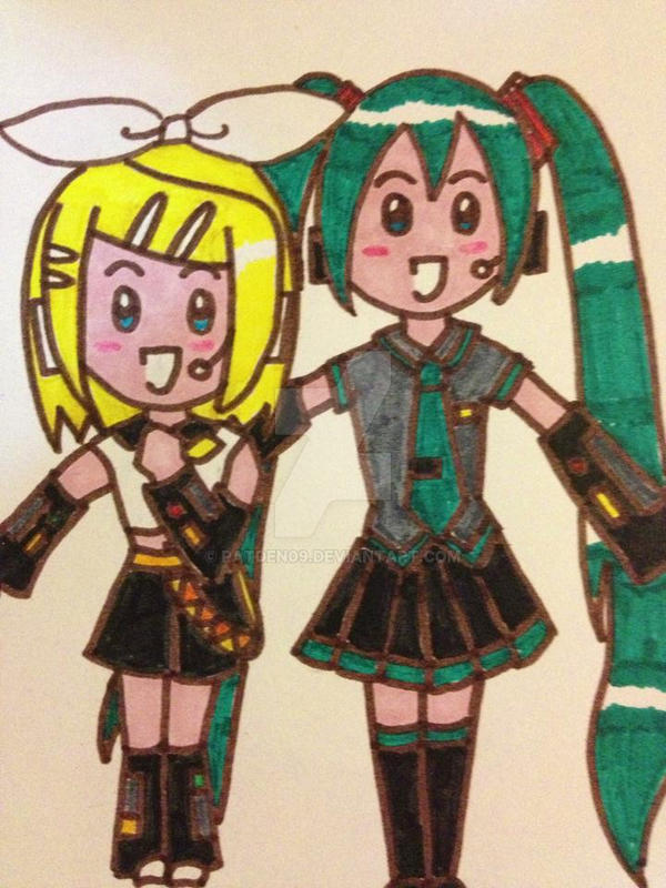 Rin and Miku by patden09