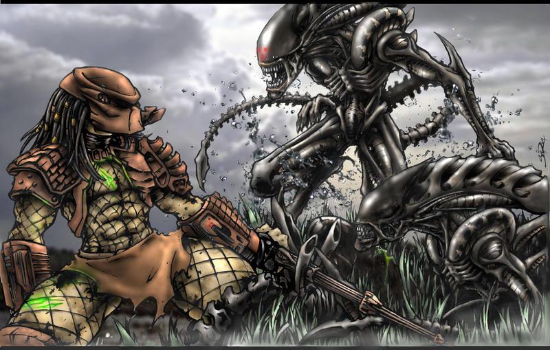 aliens vs predator drawings - photo #33
