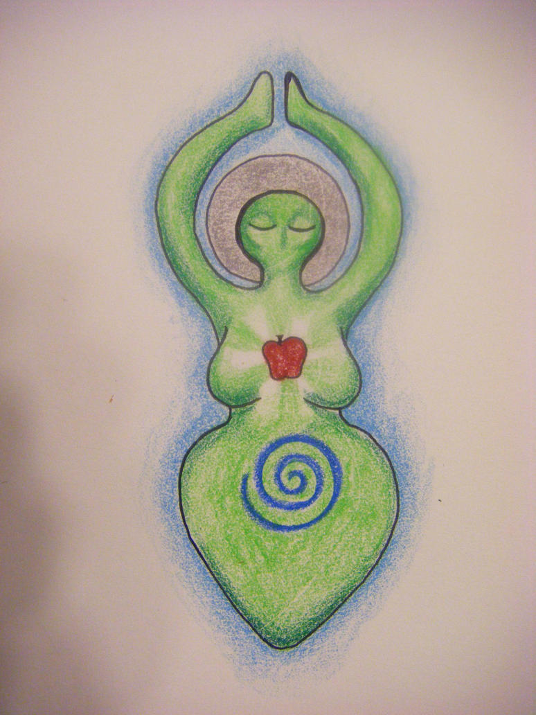 Mother earth goddess drawing - photo#9