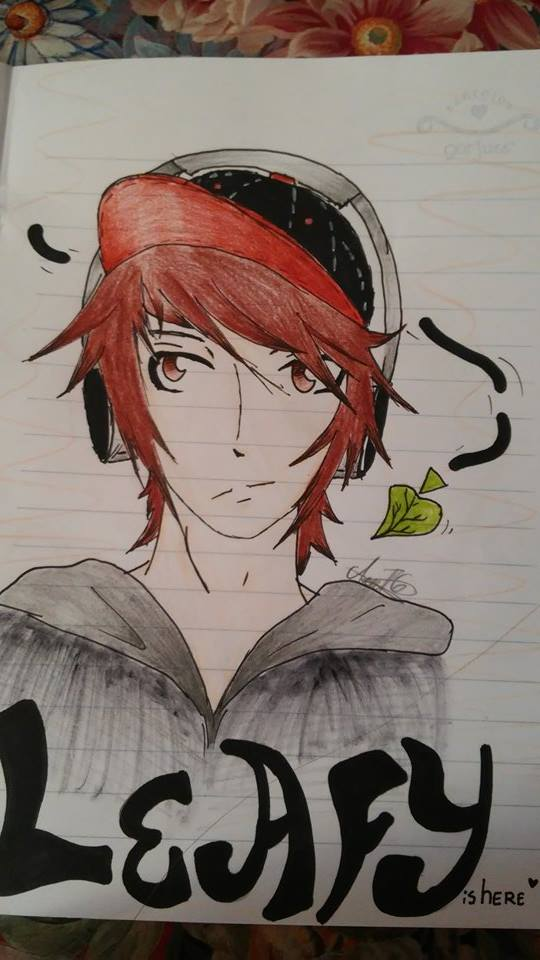 LeafyIsHere drawing by AliceMariaWalker