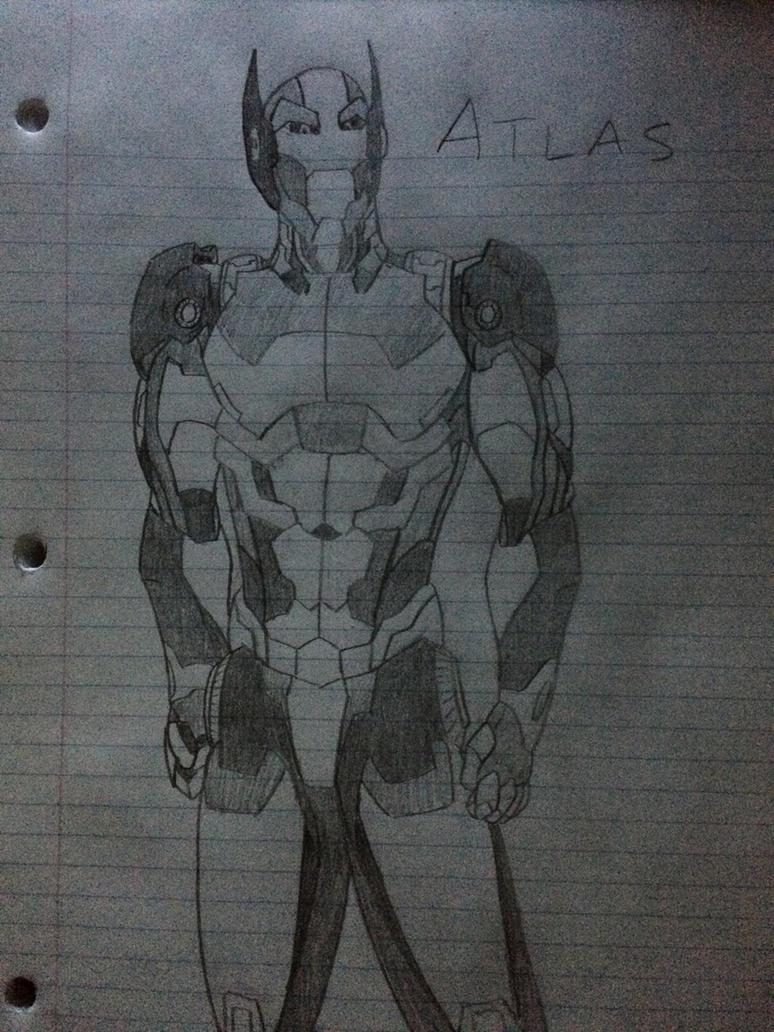 Atlas - DBZ villain rough draft by BlackKnife12