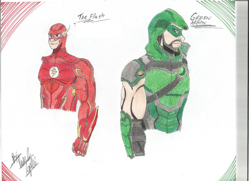 The Flash and Green Arrow by BlackKnife12