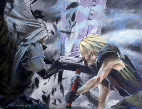 Cloud And Sephiroth Epic Clash