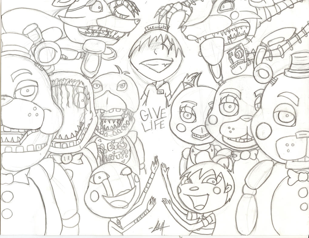 Five nights at freddy 39 s 2 wip by meow mic on deviantart for Fnaf 2 coloring pages