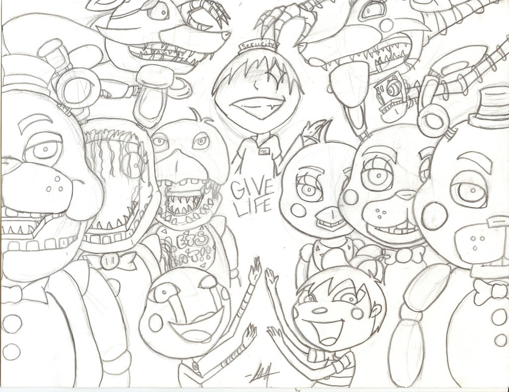 Five Nights At Freddy\'s 2 (WIP) by Meow-Mic on DeviantArt