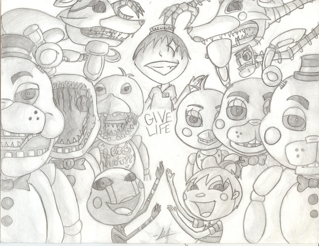 Coloring pictures five nights at freddys 2 cartoon coloring pages - Five Nights At Freddy S 2 By Meow Mic On Deviantart Five_nights_at_freddy_s_2_by_wolfsrain7249