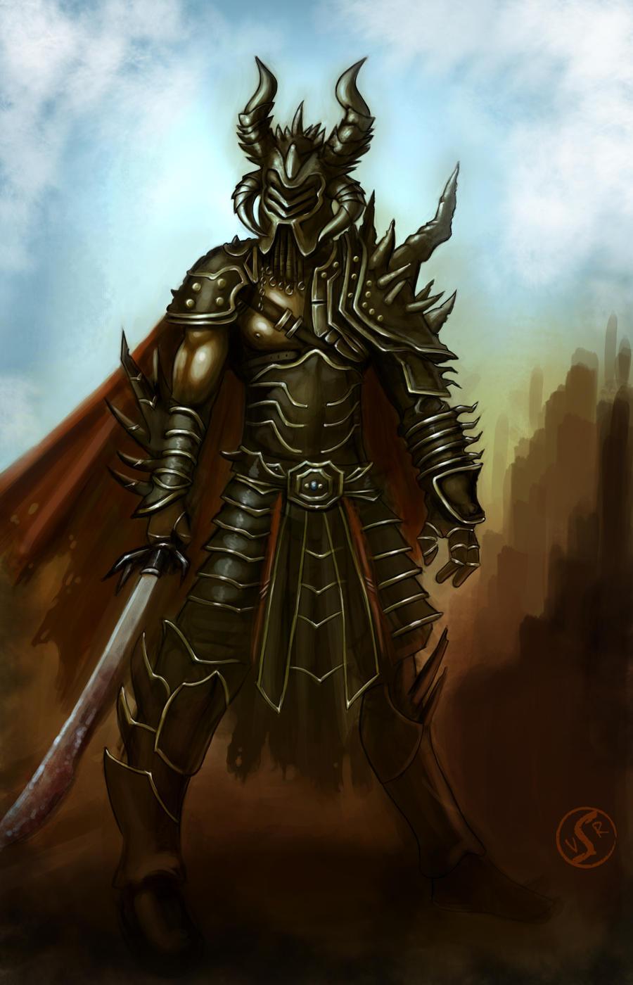 Dark warlord concept design by WackoShirow