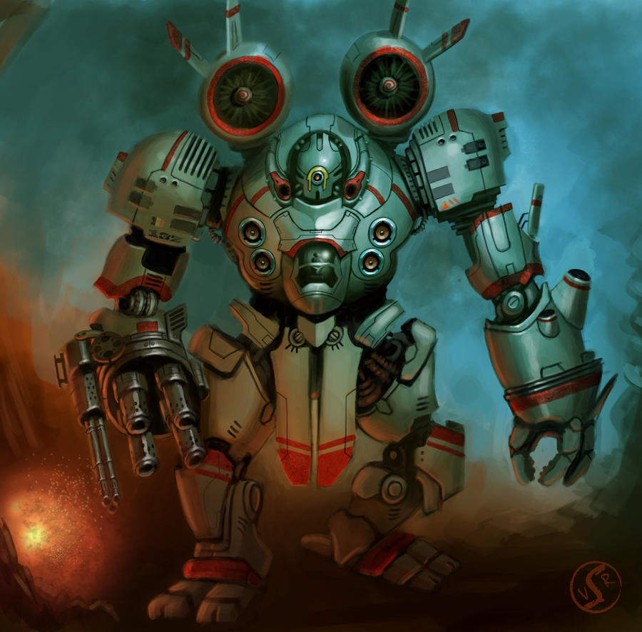 Mecha warrior by WackoShirow