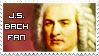 J.S. Bach fan stamp by May-Brush