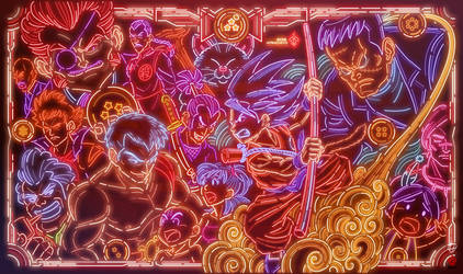 Red Ribbon Army vs Goku