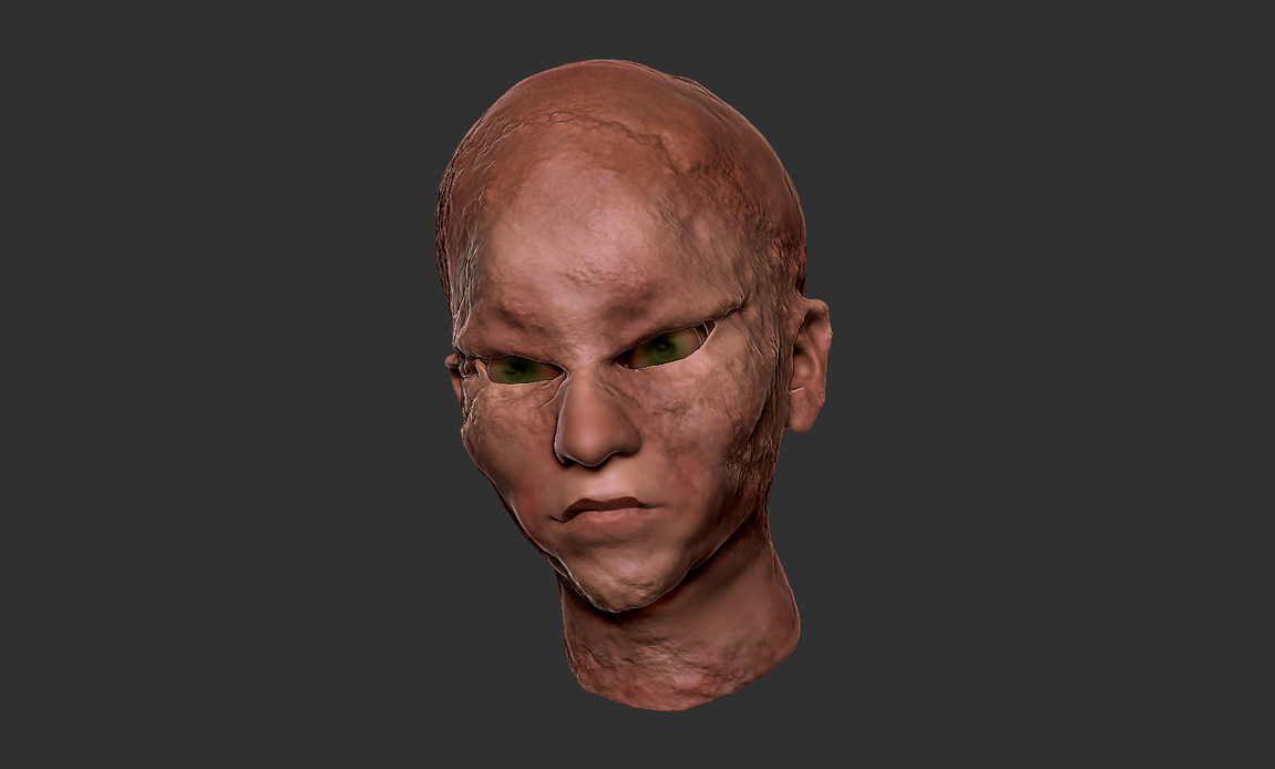 Zbrush Sculpt - Decaying Zombie - Human Skin by evilpaw24614