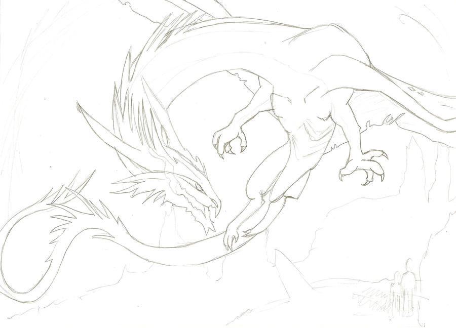 Dragon Sketch. by abzies