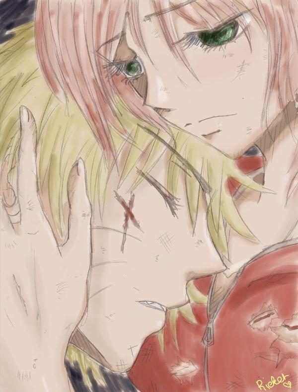 SakuNaru:.Don't Die For Me.: by Ricket-san