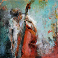 contrabajo.double bass II by Ana7hema