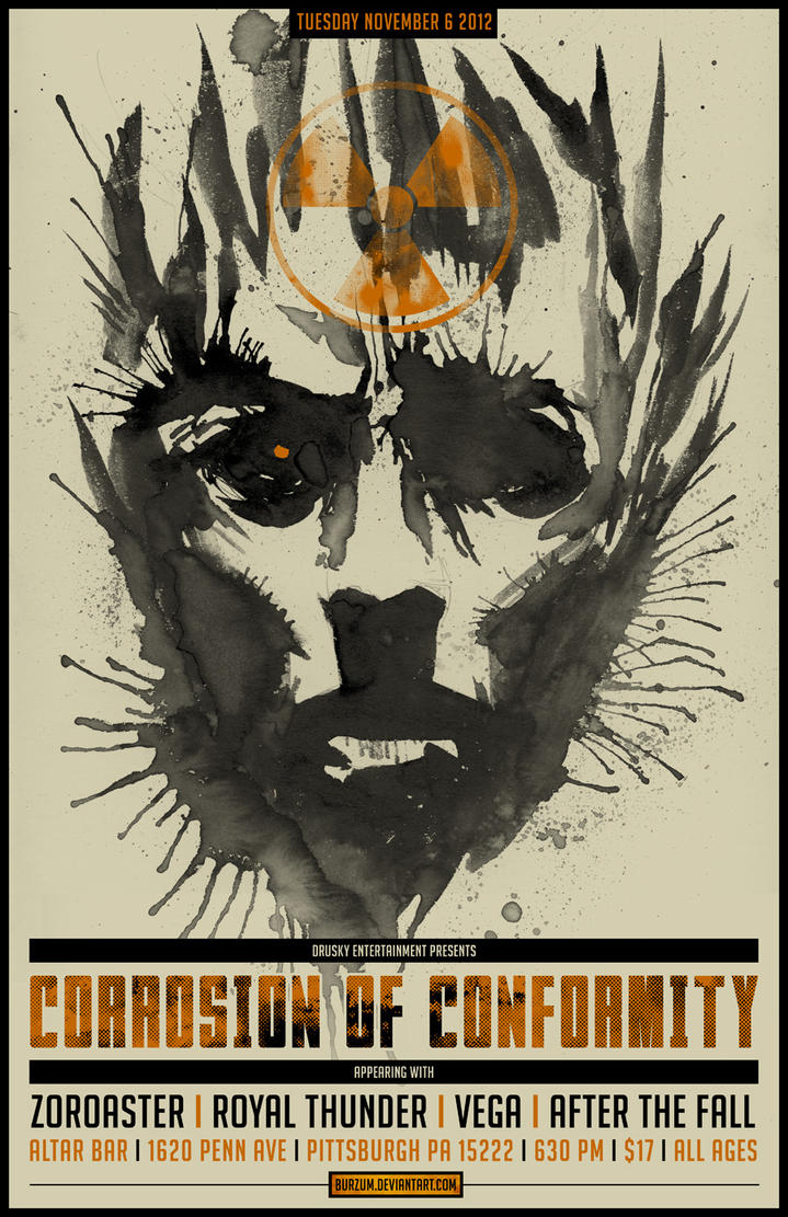 CORROSION OF CONFORMITY TOUR POSTER by BURZUM