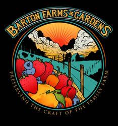 BARTON FARMS AND GARDENS LOGO REVISED V2 by GreyAriaDesignStudio