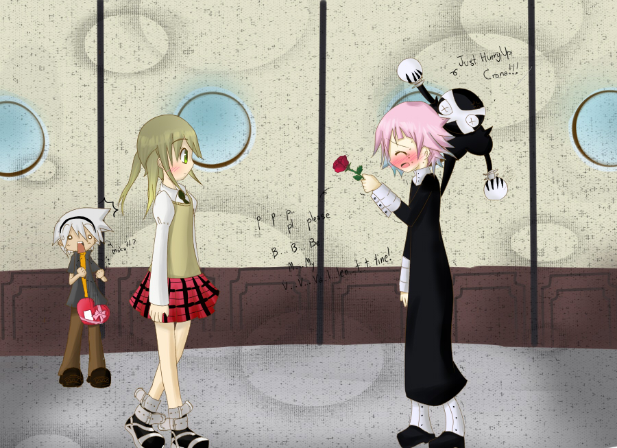 'Confession...' Maka X Crona by Ab-anna on DeviantArt