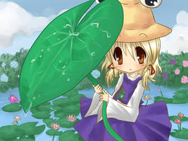 Little Frog Goddess - Suwako - by Ab-anna